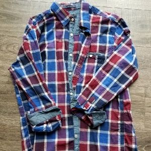 Men's Plaid Button Up Shirt